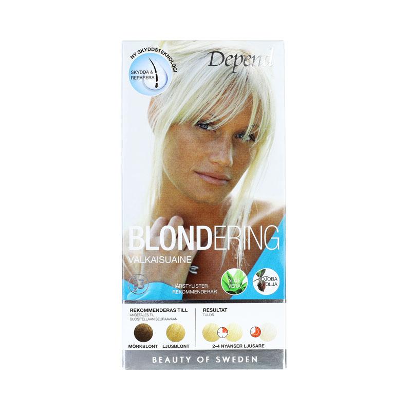 bästa blonderingen för brunt hår