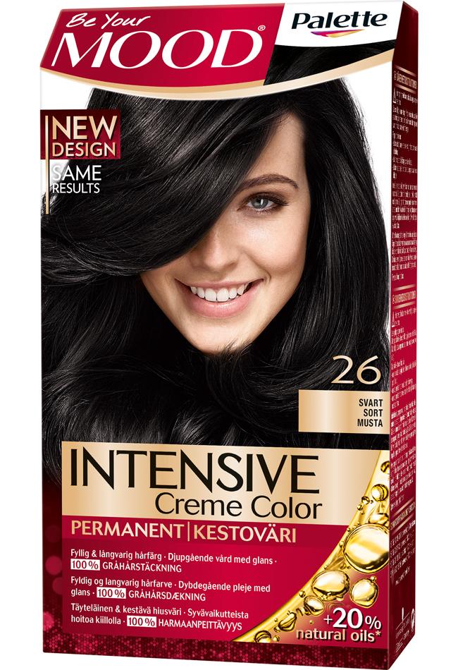 svart blå hårfärg