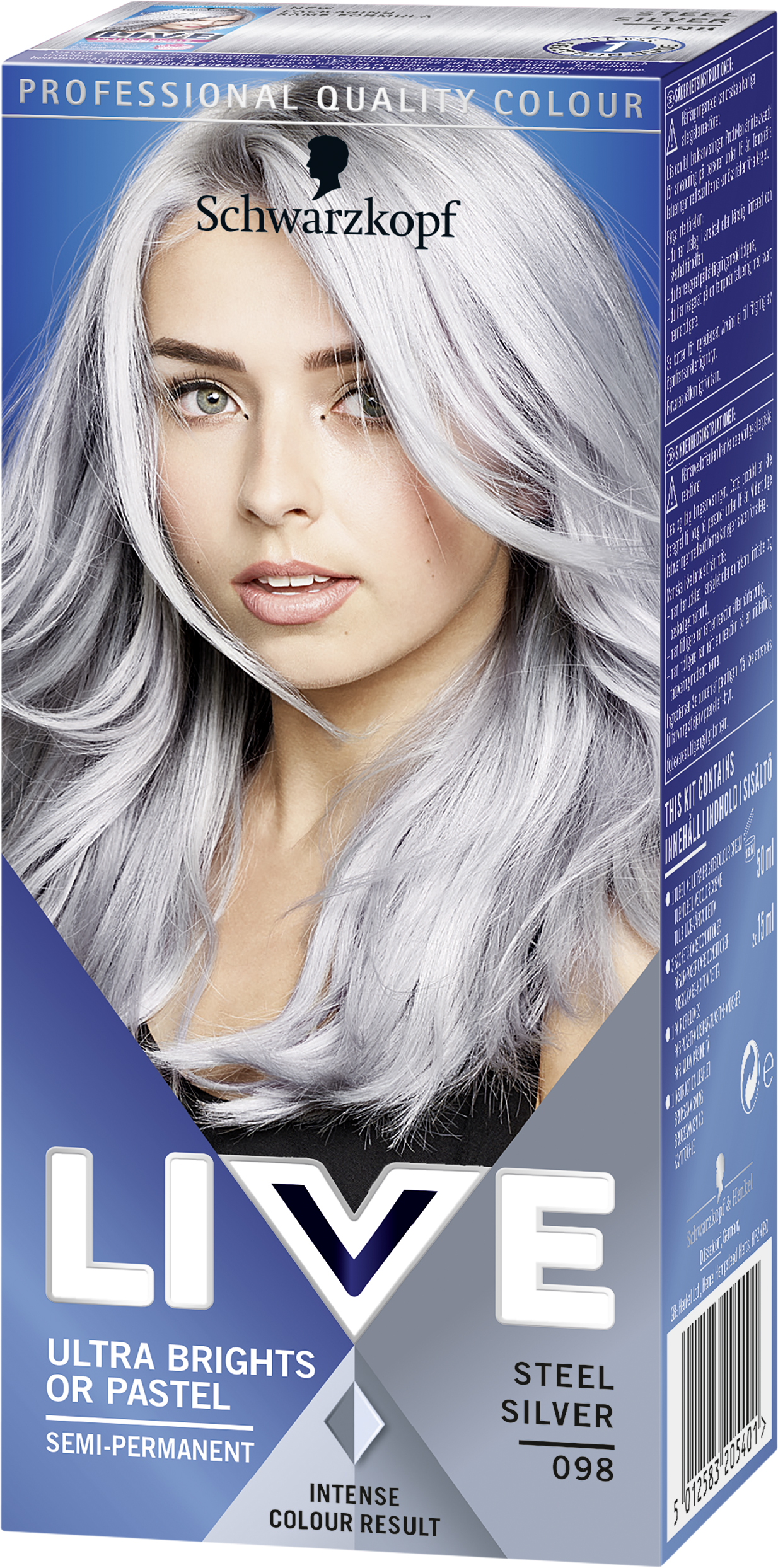 silverfärg till håret