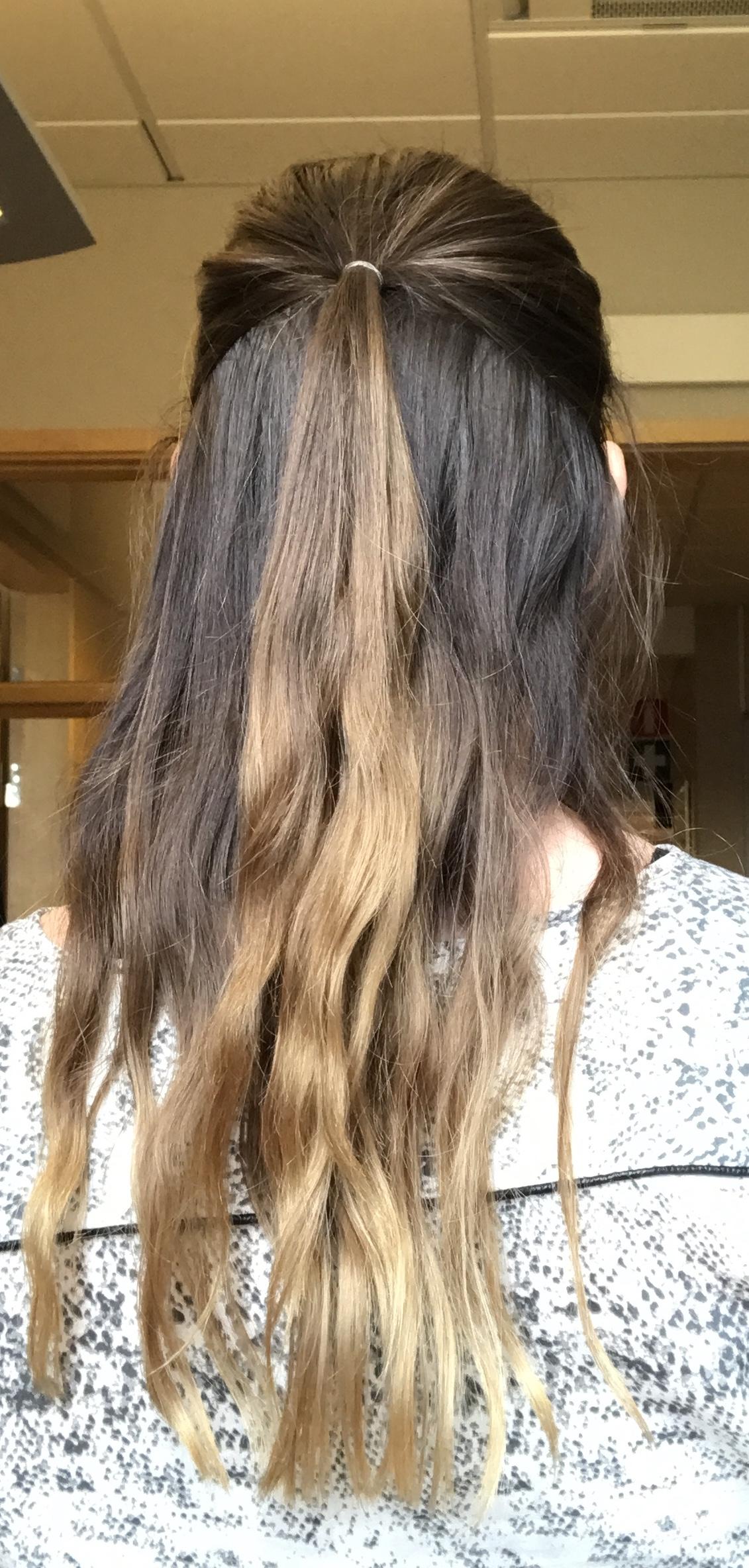 färga färgat hår