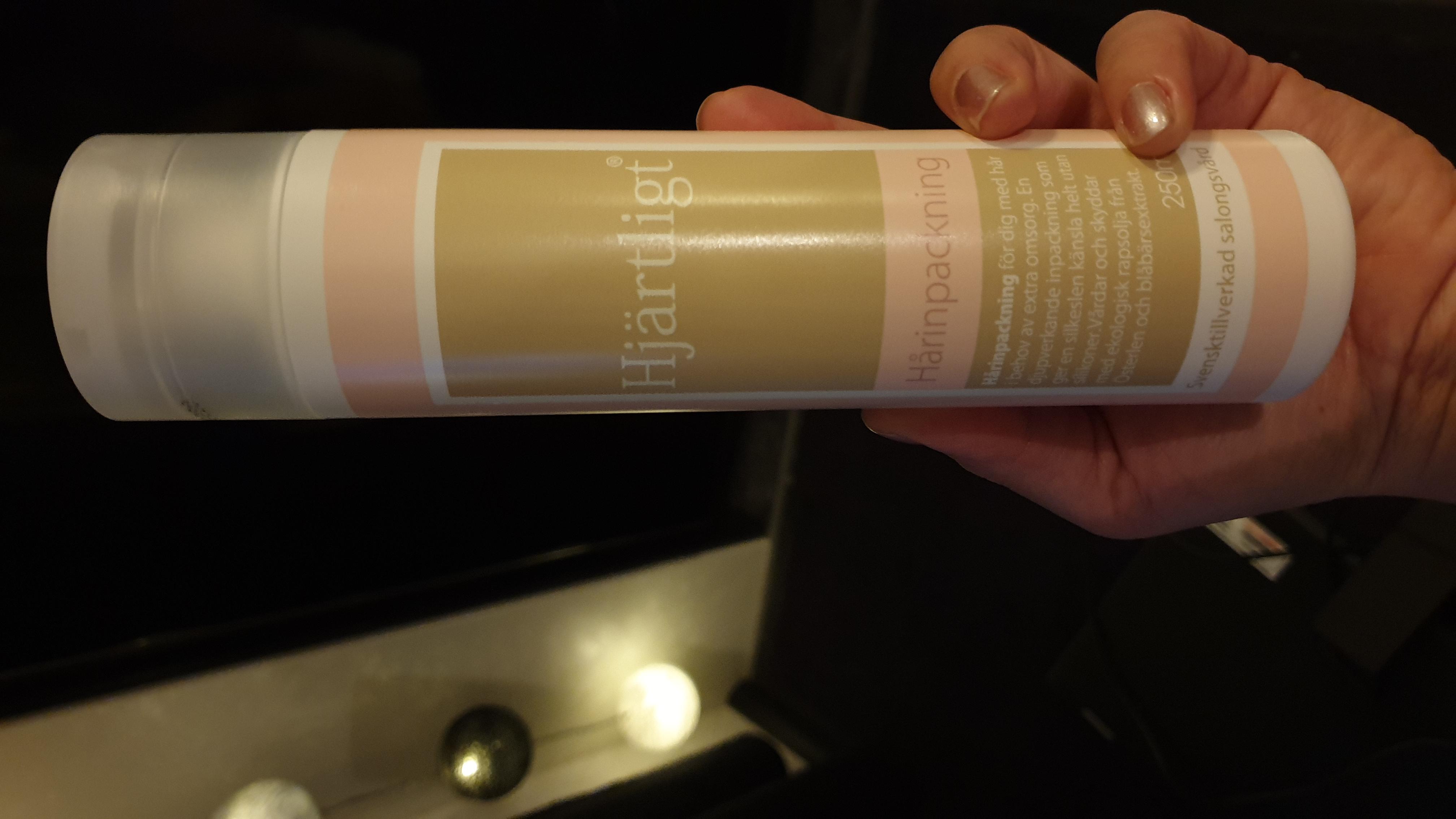 hårinpackning utan silikon